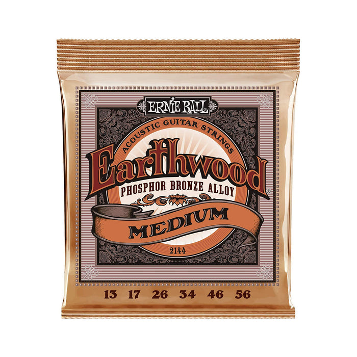 Ernie Ball | EARTHWOOD Acoustic | Phosphor Bronze Acoustic Guitar String | Medium | 13-56