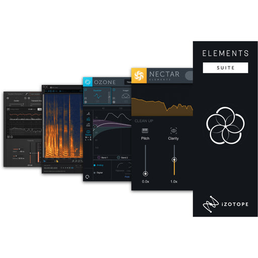 iZotope | EDU | Elements Suite | Ozone 8, Neutron 3, RX & Nectar Element Bundle - Gsus4