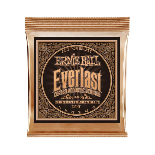 Ernie Ball | EVERLAST Acoustic | Coated Phosphor Bronze Acoustic Guitar String | Light | 11-52