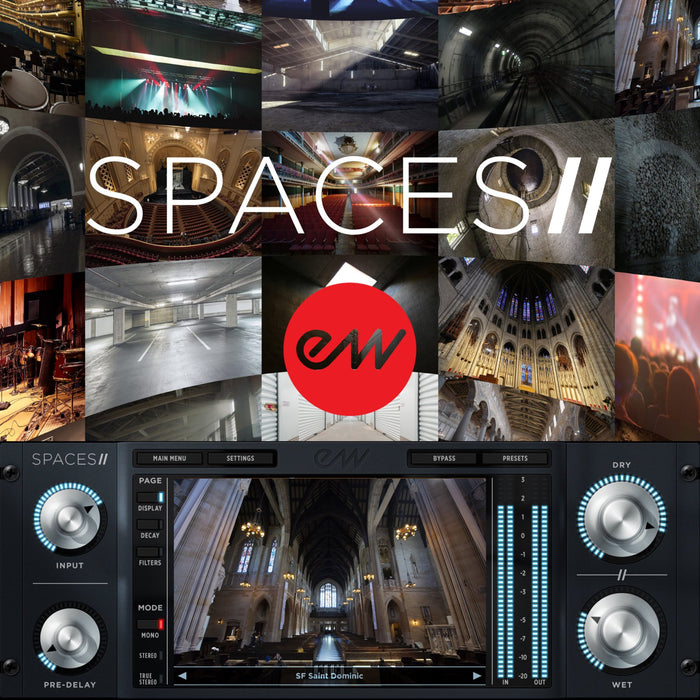 EastWest | Spaces 2 | 24bit True Stereo Convolution Reverb Plug-in - Gsus4