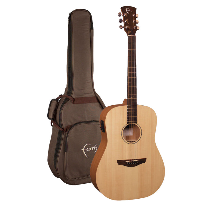 Faith Guitars | Naked Series SATURN | All Solid Acoustic | Fishman | GigBag | FKSE - Gsus4
