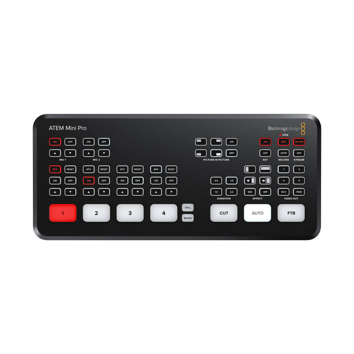 Blackmagic | ATEM Mini PRO | HDMI Live Stream Switcher | Multiview, H.264 Recording and more
