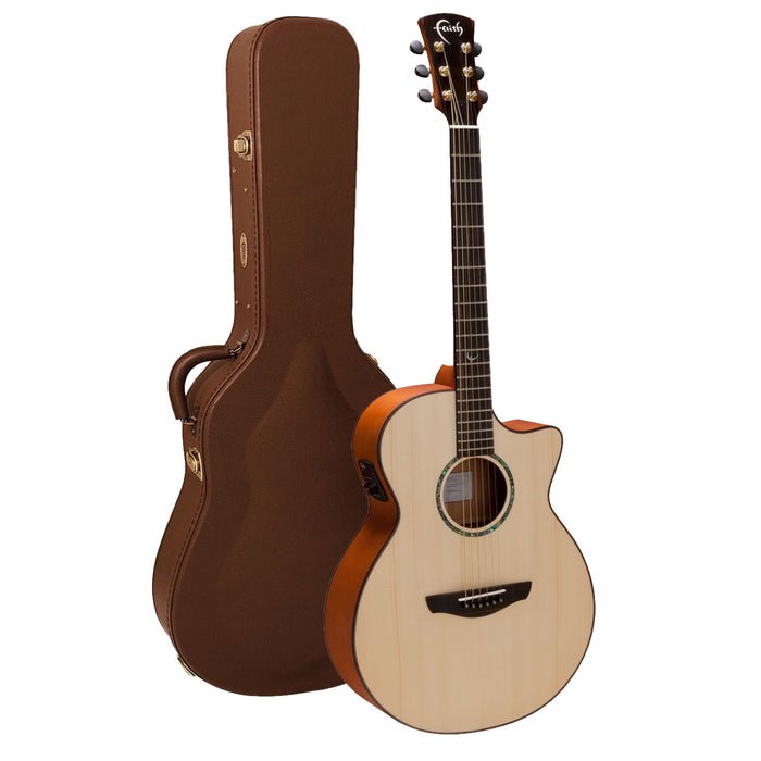 Faith Guitars | Natural Series VENUS | All Solid Engleman Spruce & Mahogany | Acoustic Guitar w/ Fishman Pickup & Hard Case | FV