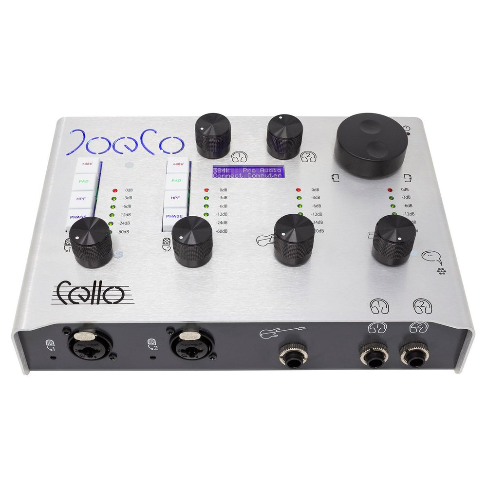 JoeCo | Cello Audio Interface | w/ 384kHz Top+ Algorithm  | JoeCo Preamps