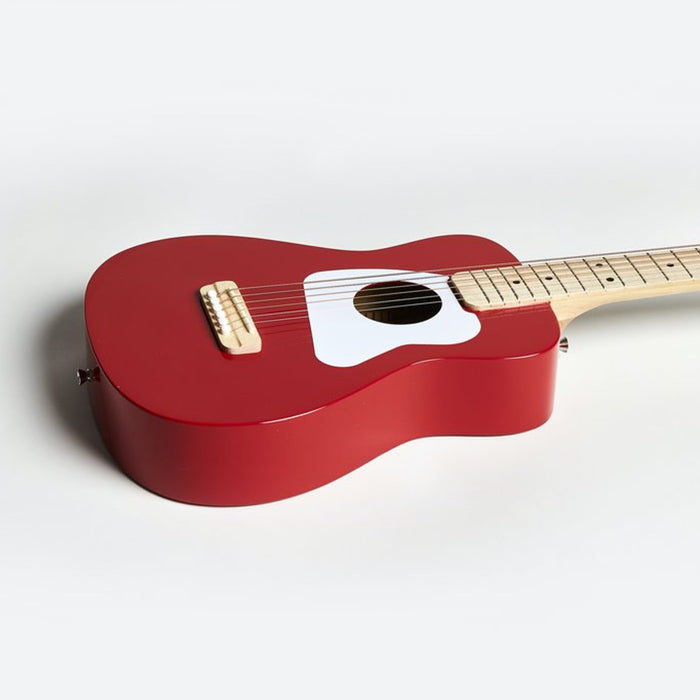 Loog | Pro VI Acoustic Guitar | w/ Chord Diagrams Flash Cards | Loog Learning App | Red
