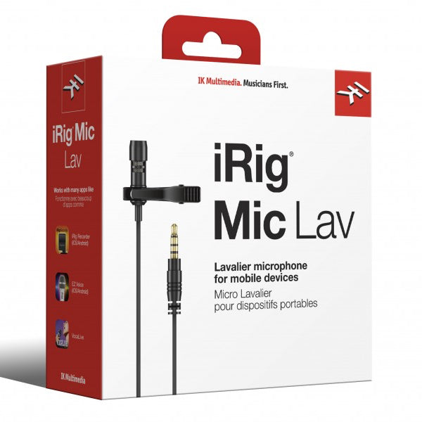 IK Multimedia | iRig Mic Lav | Lavalier Mic w/ Built-In Monitoring | Single - Gsus4