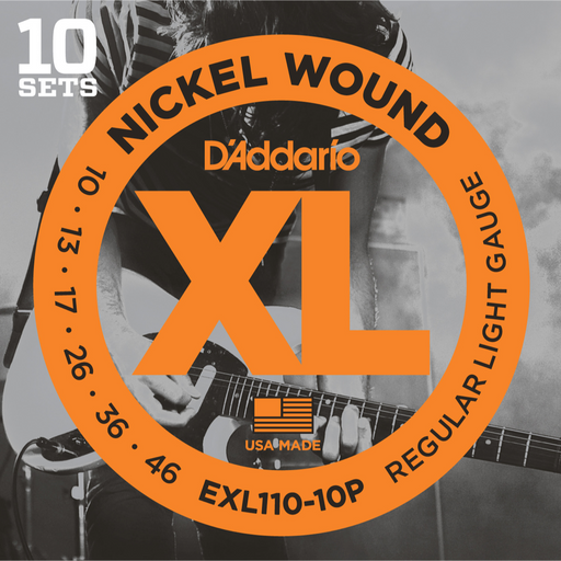 D'Addario EXL110-10D, 10 Sets Nickel Wound Electric Guitar Strings - Light Electric Strings by D'Addario - Gsus4