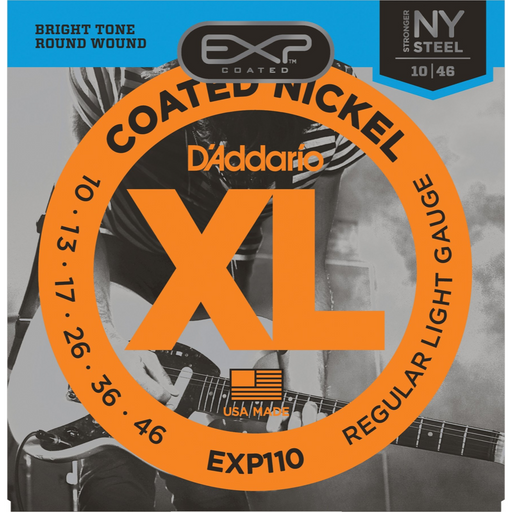 D'Addario EXP110 Extend Life Coated Electric Guitar Strings - Light Electric Strings by D'Addario - Gsus4