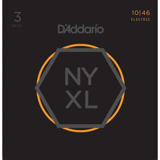 D'Addario NYXL1046-3P, 3 Sets Nickel Wound Electric Guitar Strings - Light - Gsus4