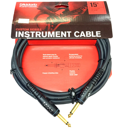 Planet Waves Custom Series Instrument Cable Straight to Straight - 4.6m (15ft) - Gsus4