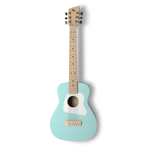 Loog | Pro VI Acoustic Guitar | w/ Chord Diagrams Flash Cards | Loog Learning App | Surf Green