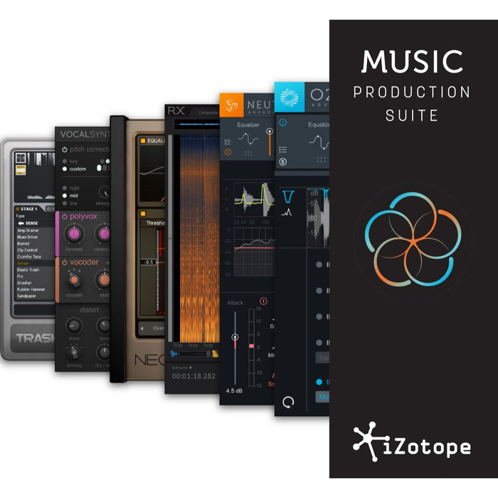 iZotope | EDU | Music Production Suite 2.1 | O8N3 Adv, Tonal Balance Ctrl, RX 7 Std, Nectar 3 and more - Gsus4