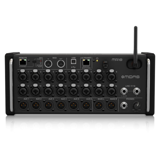 MIDAS MR18 | Portable Digital Mixer w/ Wireless iOS & Android Control