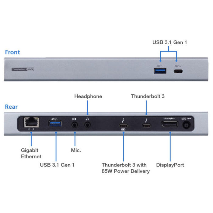ATEN | UH7230 | Thunderbolt™ 3 Multiport Dock w/ 180W Power Supply Unit