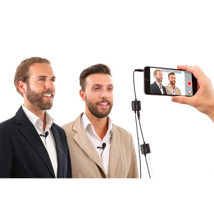 IK Multimedia | iRig Mic Lav | Lavalier Mic w/ Built-In Monitoring | Double - Gsus4