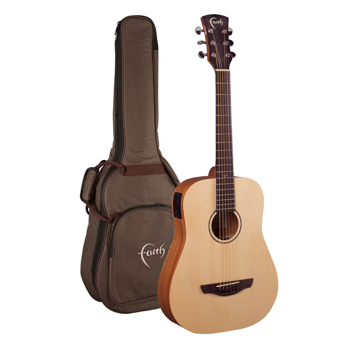 Faith Guitars | Nomad Series Mini-SATURN | All Solid Acoustic | Fishman | GigBag | FDS
