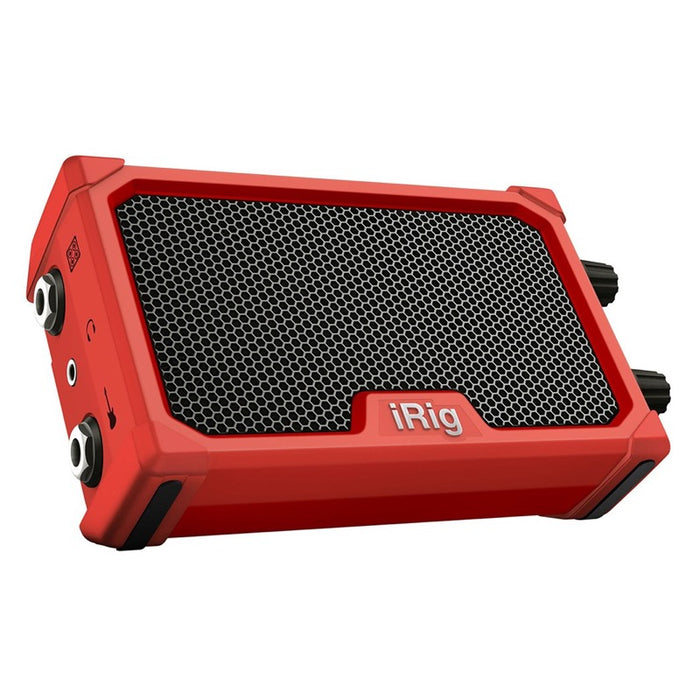 IK Multimedia | iRig Nano Amp | 3W Class A/B Power Portable Amp w/ iOS Interface | Red - Gsus4