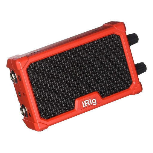 IK Multimedia | iRig Nano Amp | 3W Class A/B Power Portable Amp w/ iOS Interface | Red