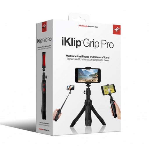 IK Multimedia | iKlip Grip Pro | 4-in-1 Smartphone Stand | w/ Bluetooth Control - Gsus4
