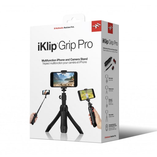 IK Multimedia | iKlip Grip Pro | 4-in-1 Smartphone Stand | w/ Bluetooth Control