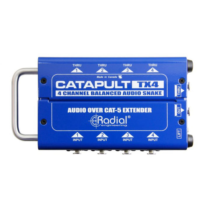Radial | Catapult TX4 | 4CH Transmitter | Balanced I/O | Cat5 Audio Snake