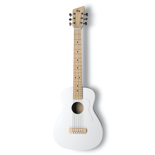 Loog | Pro VI Acoustic Guitar | w/ Chord Diagrams Flash Cards | Loog Learning App | White