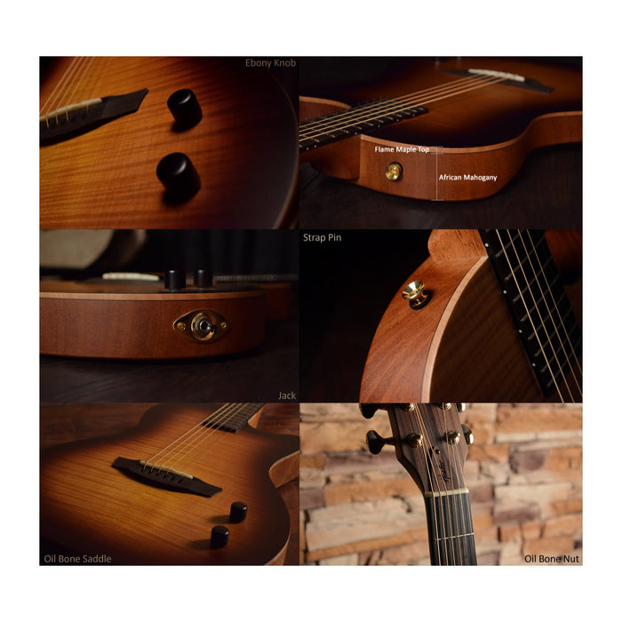 Healer Acoustic Custom Chamber Guitar HAC-1 SB Acoustic Guitar by Healer - Gsus4