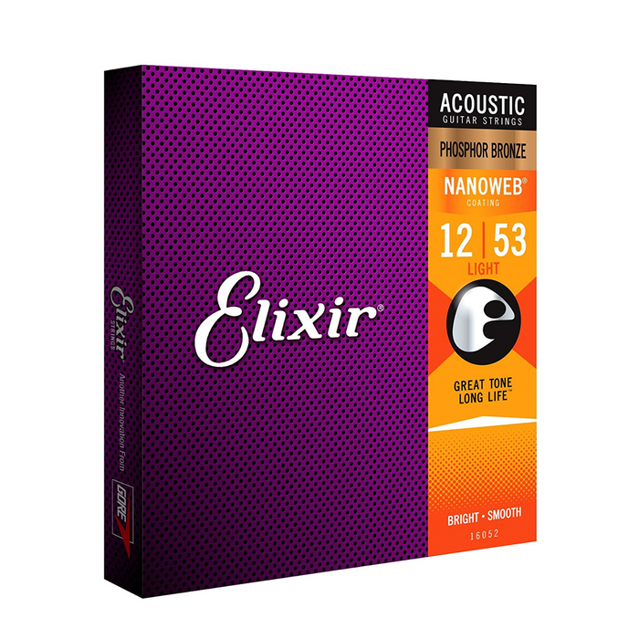 Elixir | Nanoweb | Acoustic Strings | Plus FREE Spare Single String - Gsus4
