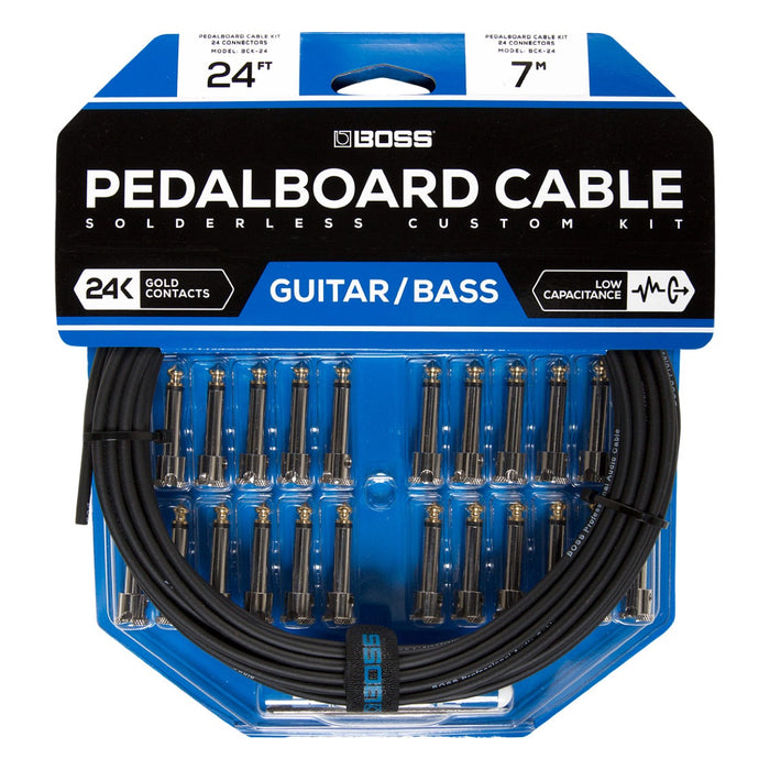BOSS BCK24 | DIY Pedalboard Cable Kit - 24' Cable & 24 Connectors (BCK-24)