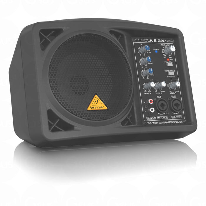 Behringer Eurolive B205D Ultra-Compact 150W PA Monitor Speaker - Gsus4