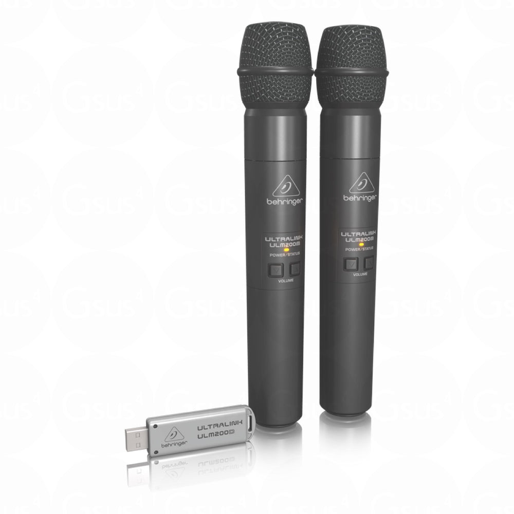Behringer Ultrilink ULM202USB Dual Wireless Microphone System Microphone by Behringer - Gsus4