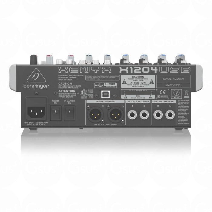 Behringer XENYX X1204USB | 12-Input 2/2-Bus Mixer w/ XENYX Mic Preamps - Gsus4