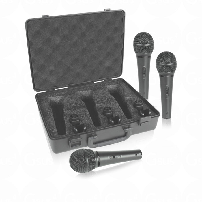 Behringer Ultravoice XM1800S Dynamic Cardioid Microphones (Set of 3) Microphone by Behringer - Gsus4