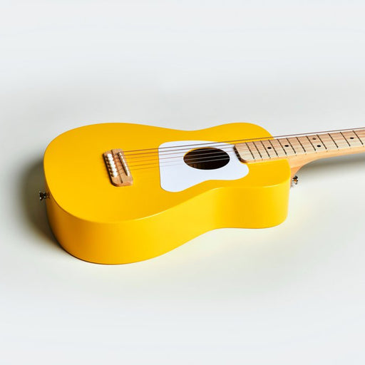 Loog | Pro VI Acoustic Guitar | w/ Chord Diagrams Flash Cards | Loog Learning App | Yellow
