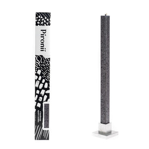 Anthracite Dripless Square Pillar Candles