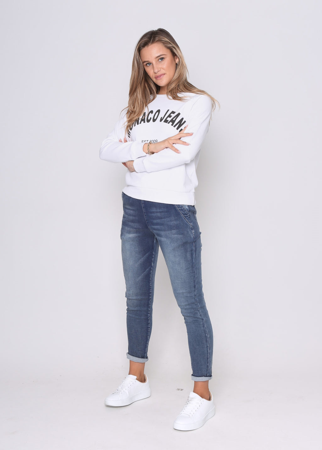MONACO SWEATER - WHITE