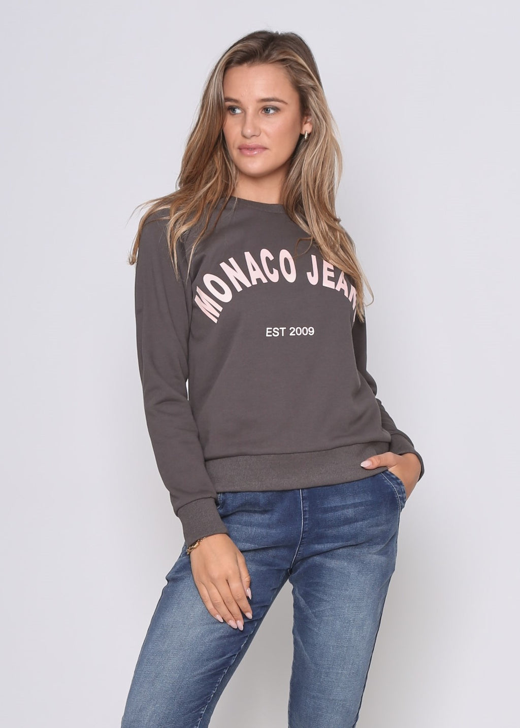 MONACO SWEATER - STEELE