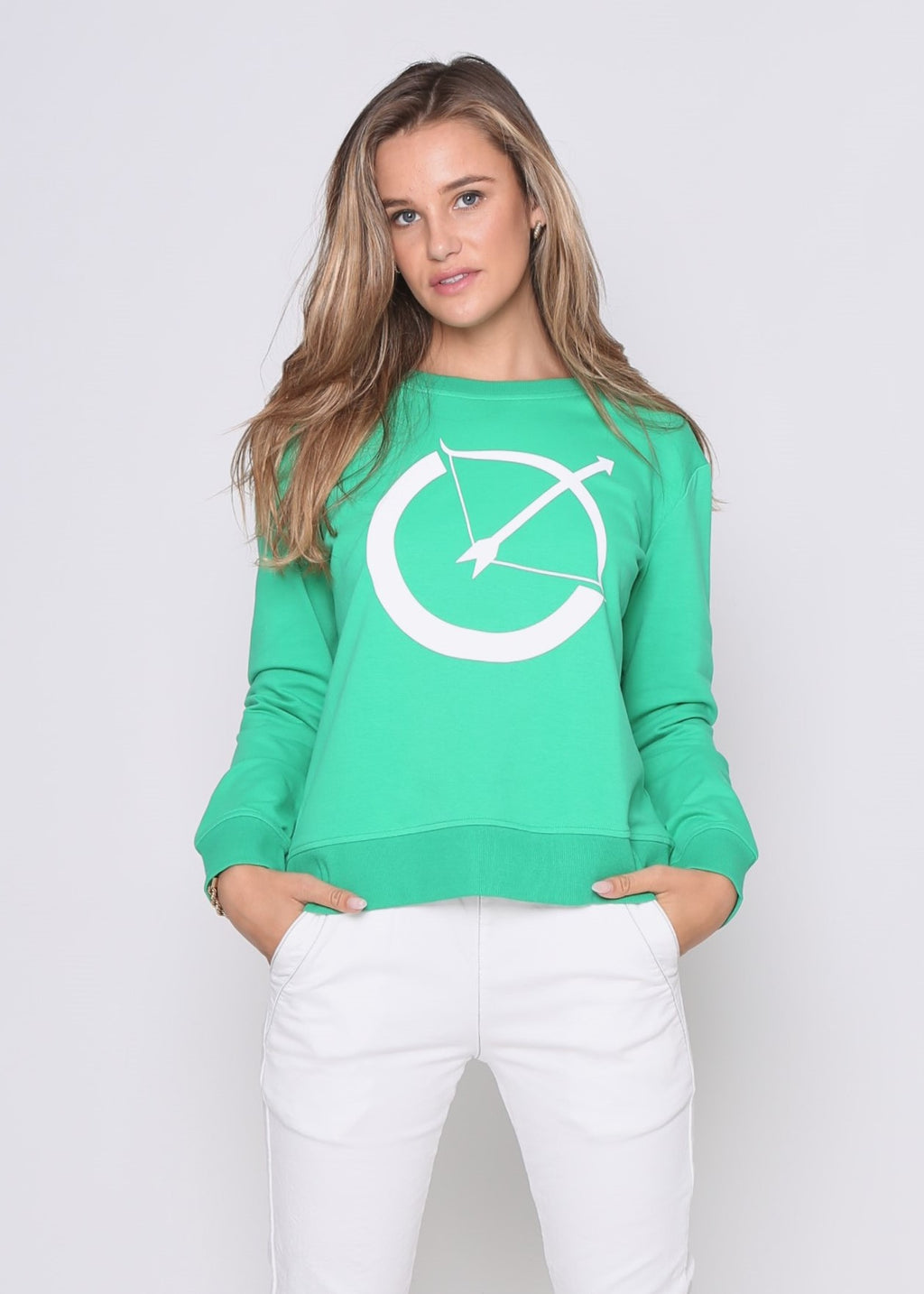 BOW SWEATER - GREEN