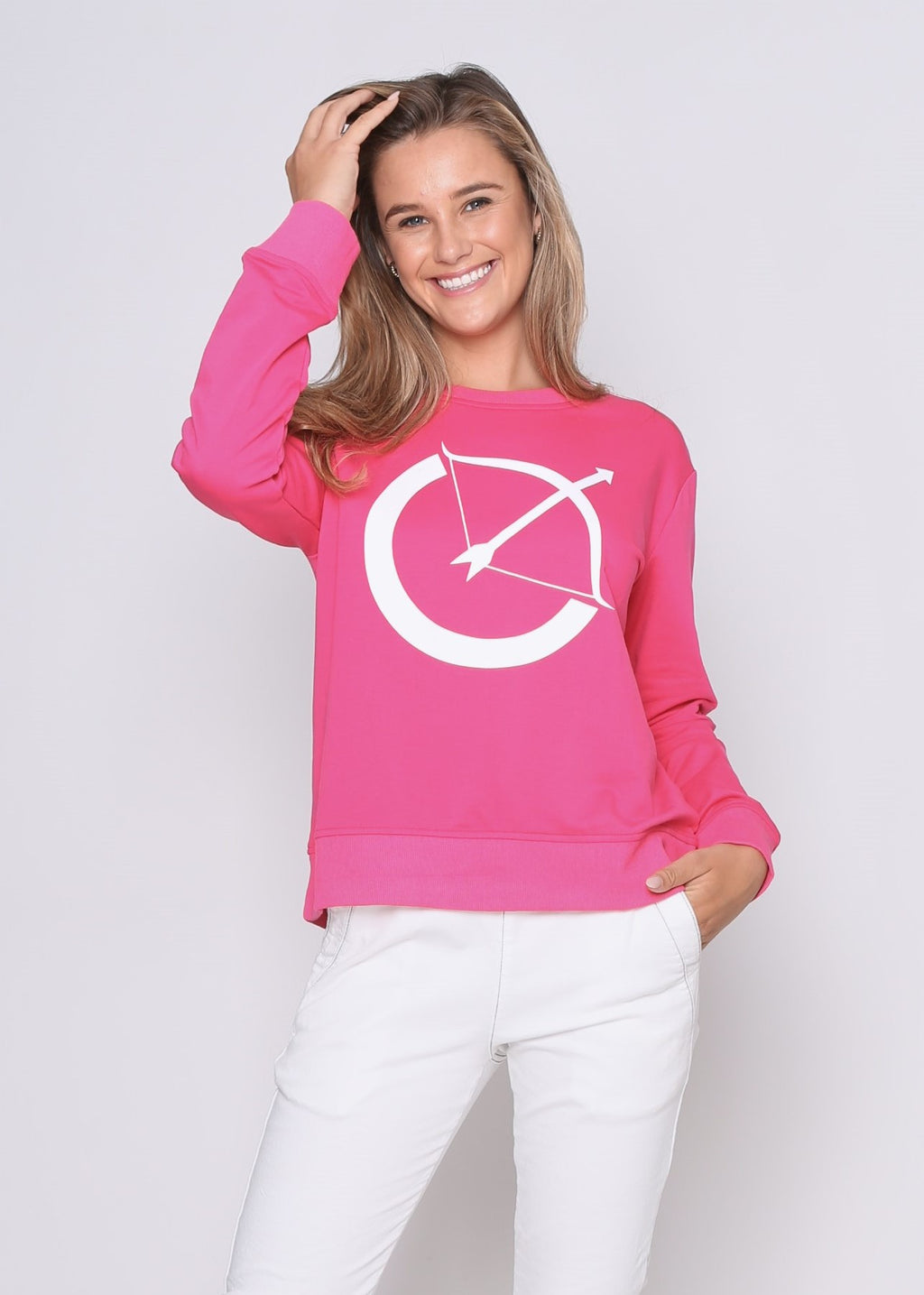 BOW SWEATER - PINK