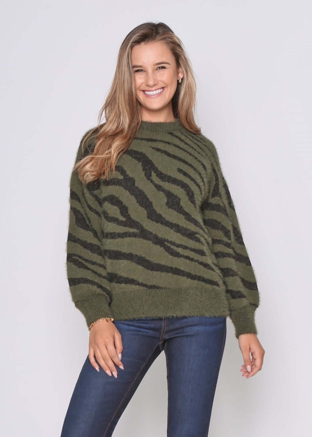 PRE-ORDER - JOE JUMPER - KHAKI ANIMAL