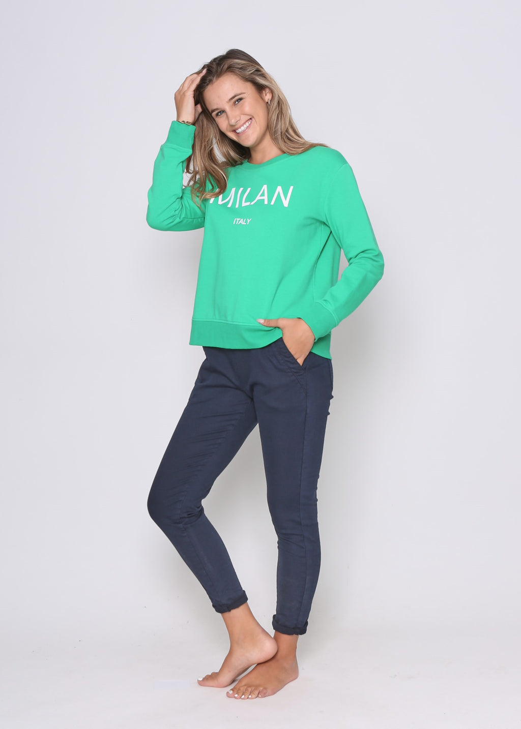 MILAN SWEATER - GREEN