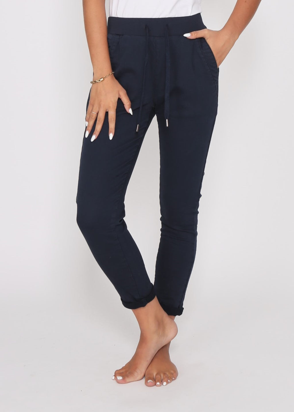 RILEY DENIM JOGGER - INK