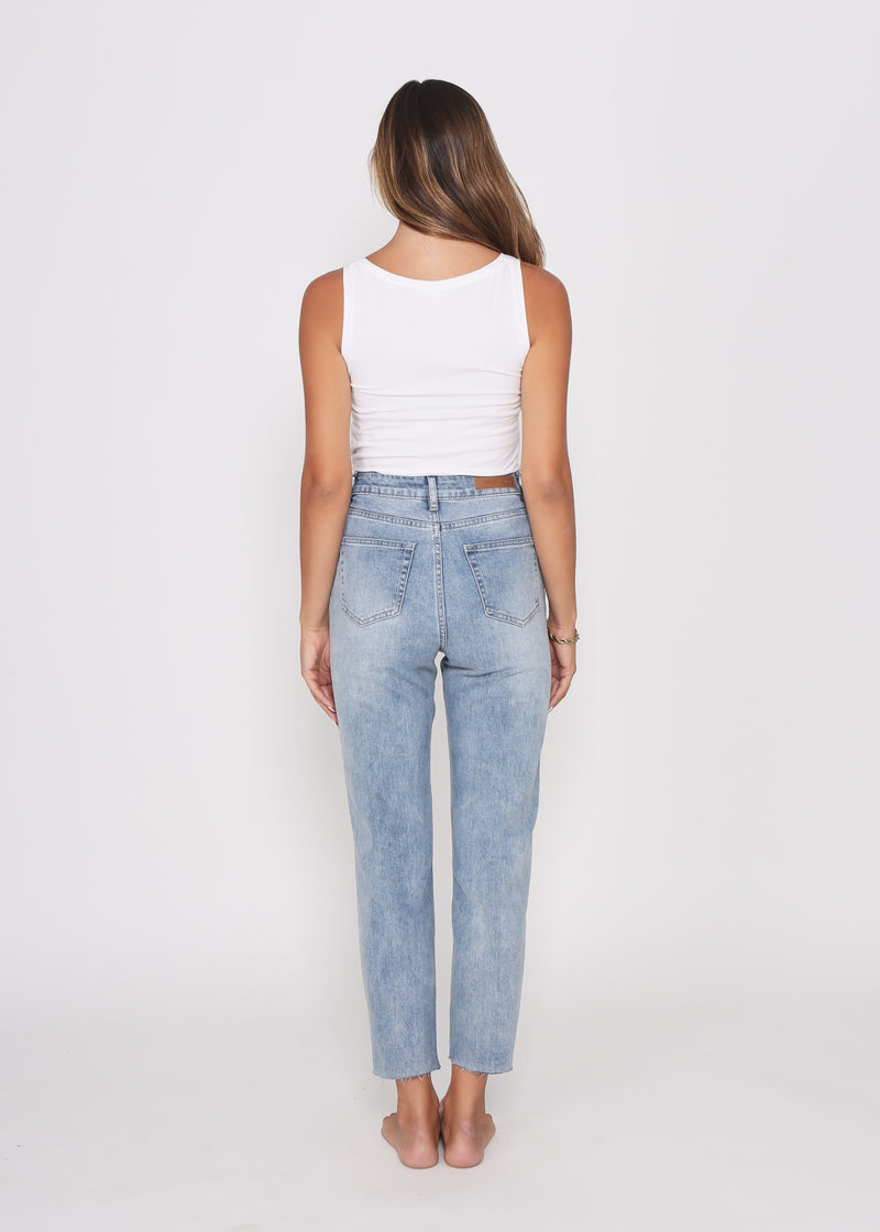 TAYLOR MOM  JEAN - BLUE WASH