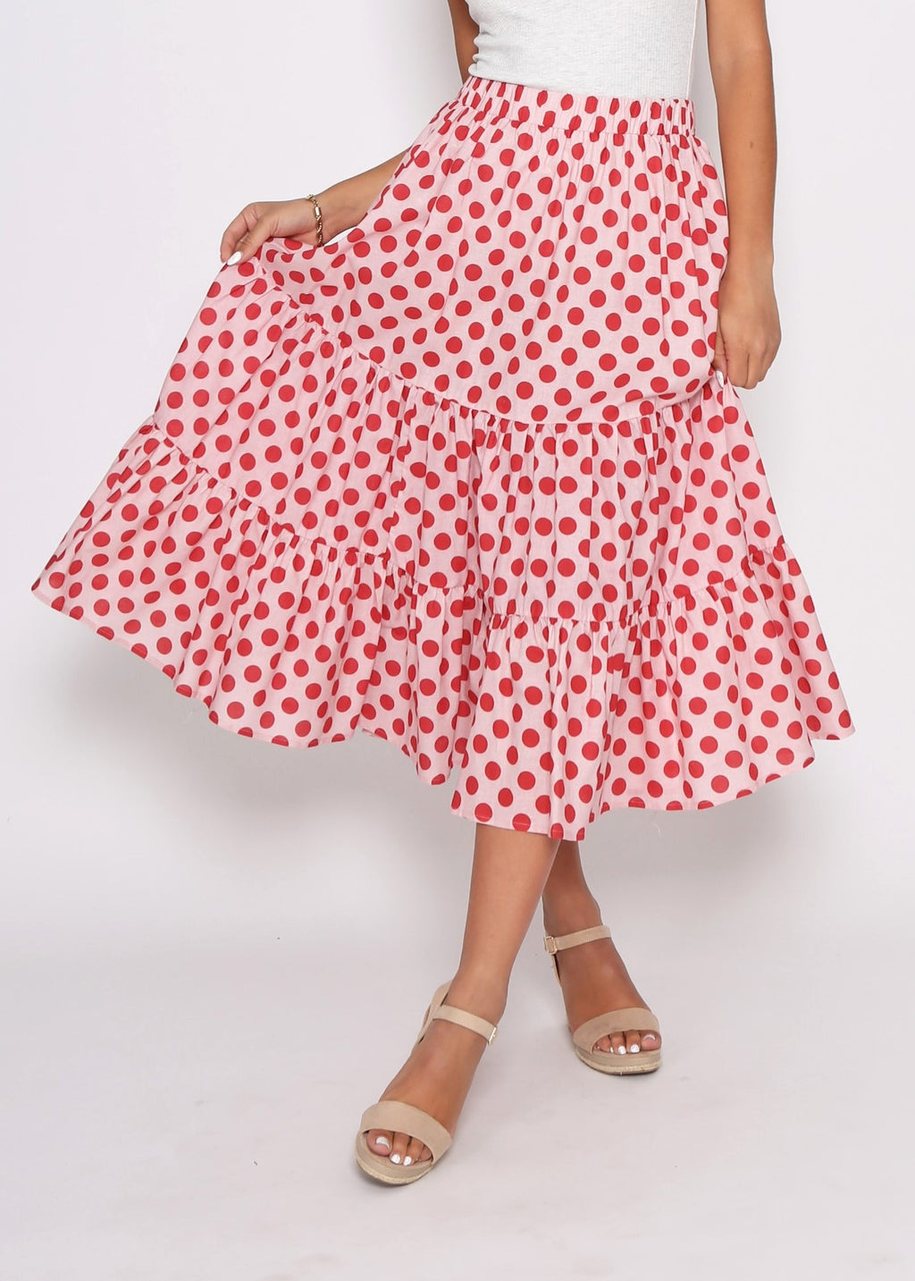 NEW - EDEN SKIRT - RED COMBO