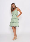 NEW  - CLARE DRESS - GREEN CHECK
