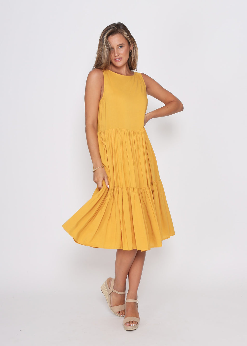 NEW - REESE DRESS - MUSTARD