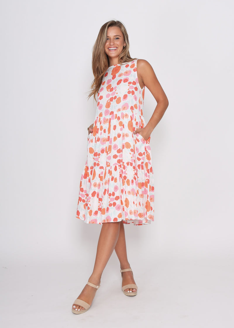 REESE DRESS - POPPIES PRINT