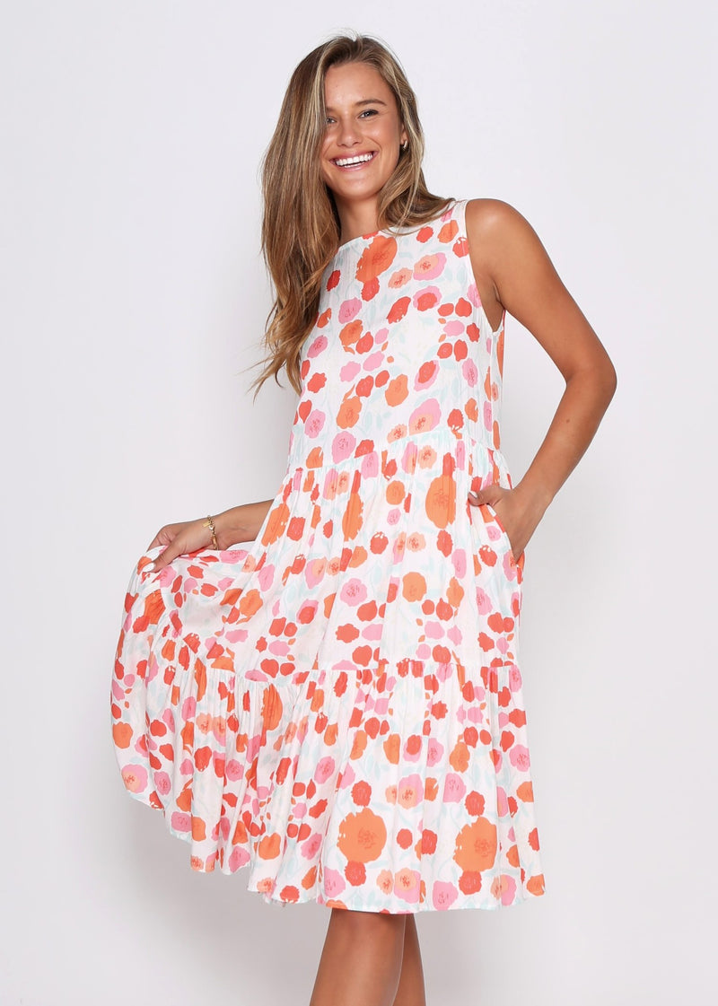 NEW - REESE DRESS - POPPIES PRINT