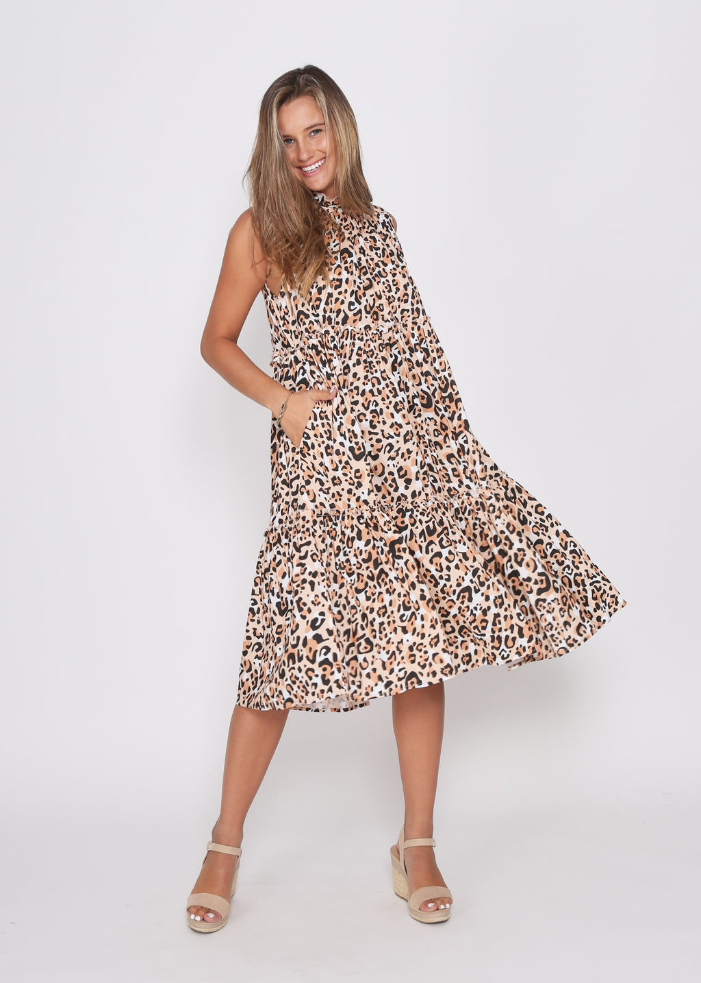 NEW - CADY DRESS - SUMMER LEOPARD