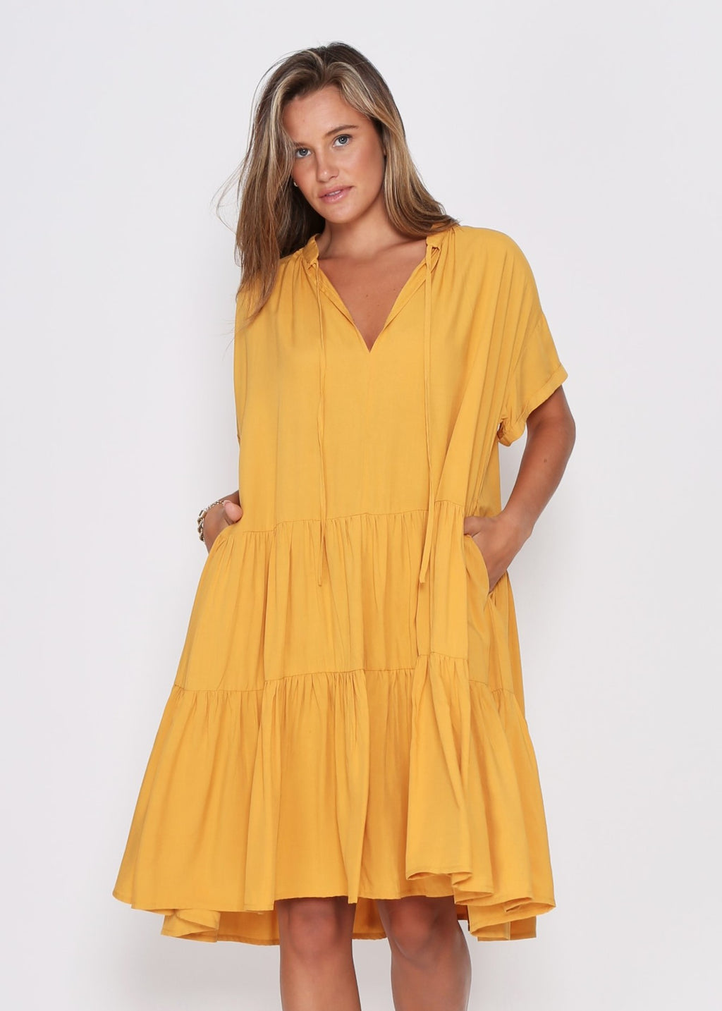 NEW - KARA DRESS - MUSTARD